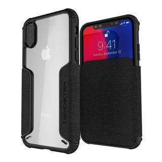 iPhone XS/X ケース エグゼク3 背面ケース ブラック iPhone XS/X