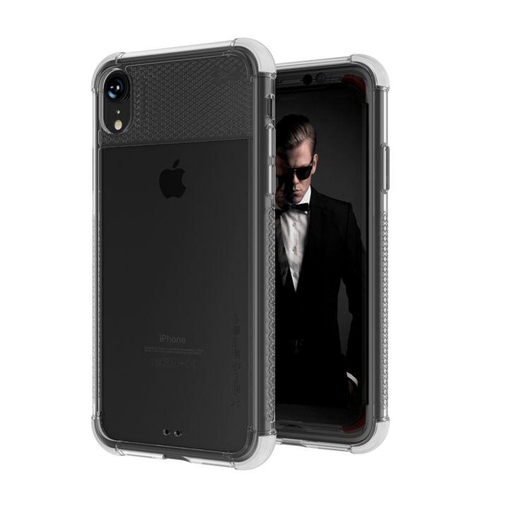 iPhone XR ケース コバート2 クリア背面ケース ホワイト iPhone XR_0