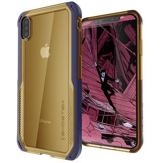 iPhone XS Max ケース クローク4 ハイブリッドクリア背面ケース ブルー iPhone XS Max