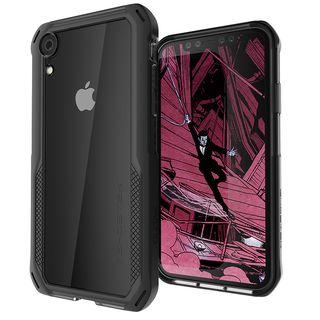 クローク4 ハイブリッドクリア背面ケース ブラック iPhone XR【10月下旬】