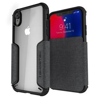 iPhone XR ケース エグゼク3 背面ケース グレー iPhone XR【4月上旬】
