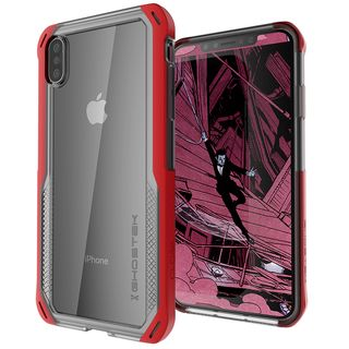 iPhone XS/X ケース クローク4 ハイブリッドクリア背面ケース レッド iPhone XS/X