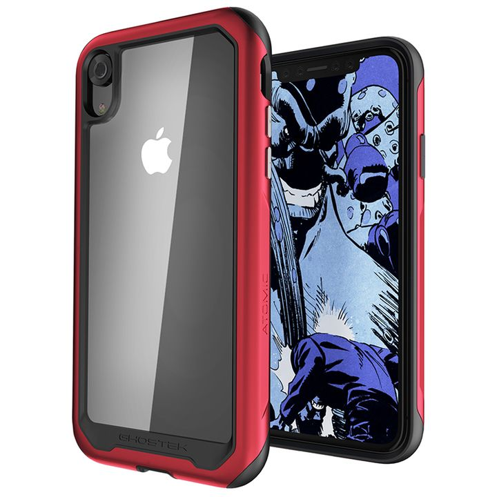 【iPhone XRケース】アトミックスリム2 背面ケース レッド iPhone XR_0