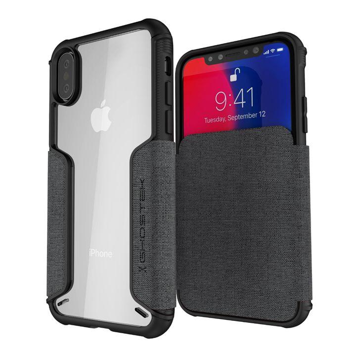 iPhone XS/X ケース エグゼク3 背面ケース グレー iPhone XS/X_0