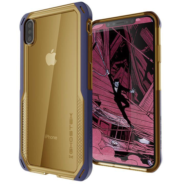iPhone XS/X ケース クローク4 ハイブリッドクリア背面ケース ブルー iPhone XS/X_0