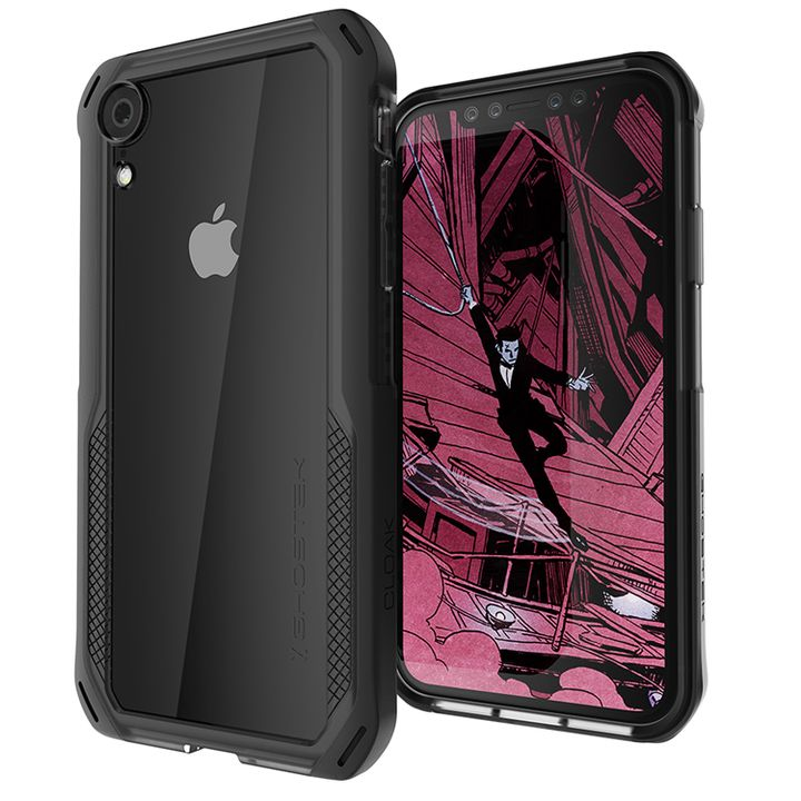 iPhone XR ケース クローク4 ハイブリッドクリア背面ケース ブラック iPhone XR_0