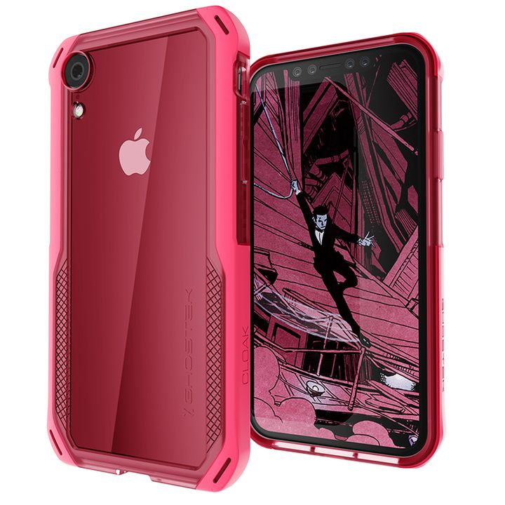 iPhone XR ケース クローク4 ハイブリッドクリア背面ケース ピンク iPhone XR_0