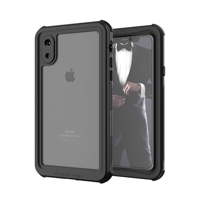 【iPhone XSケース】ノーティカル IP68耐衝撃/防水/防雪/防塵ケース  ブラック iPhone XS_0