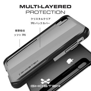 【iPhone XS Maxケース】クローク4 ハイブリッドクリア背面ケース ブルー iPhone XS Max【10月下旬】_6