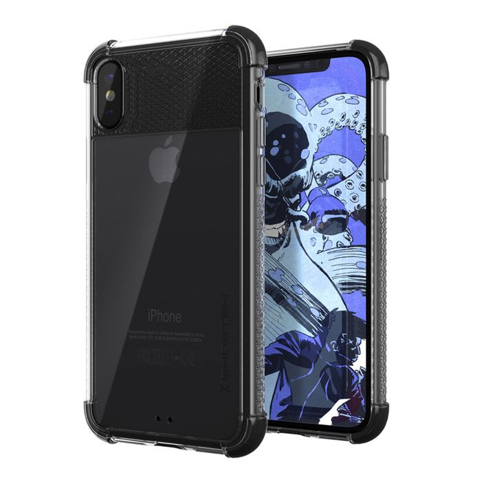 iPhone XS/X ケース コバート2 クリア背面ケース ブラック iPhone XS/X_0