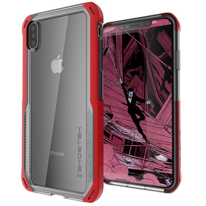 iPhone XS/X ケース クローク4 ハイブリッドクリア背面ケース レッド iPhone XS/X_0