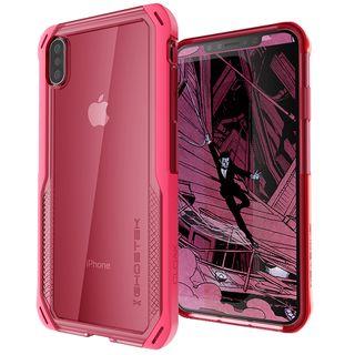 クローク4 ハイブリッドクリア背面ケース ピンク iPhone XS Max【10月下旬】