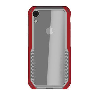 【iPhone XRケース】クローク4 ハイブリッドクリア背面ケース レッド iPhone XR【10月下旬】_2