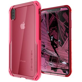 iPhone XS/X ケース クローク4 ハイブリッドクリア背面ケース ピンク iPhone XS/X