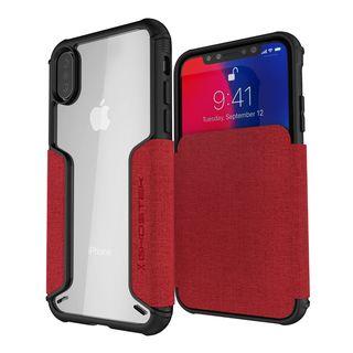 iPhone XS/X ケース エグゼク3 背面ケース レッド iPhone XS/X