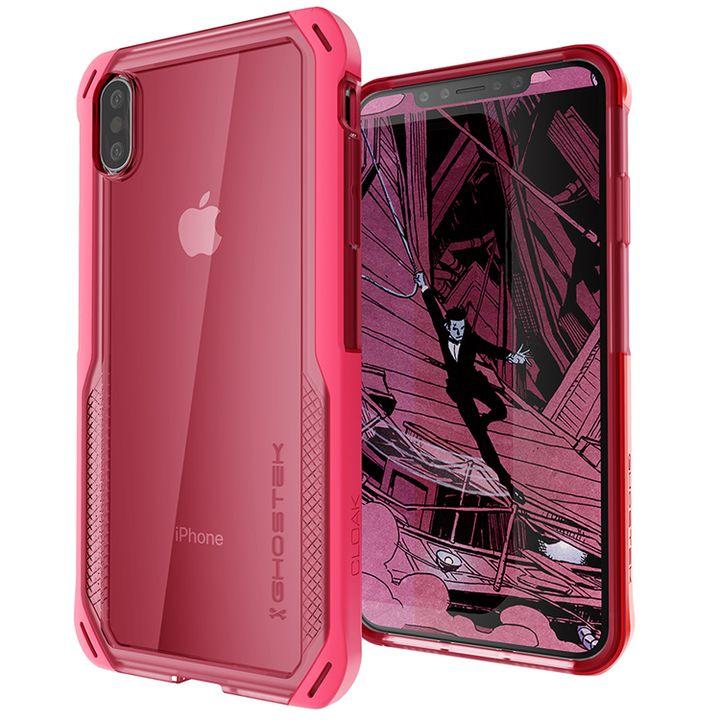 iPhone XS/X ケース クローク4 ハイブリッドクリア背面ケース ピンク iPhone XS/X_0