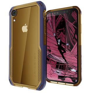 iPhone XR ケース クローク4 ハイブリッドクリア背面ケース ブルー iPhone XR