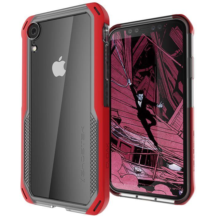 iPhone XR ケース クローク4 ハイブリッドクリア背面ケース レッド iPhone XR_0