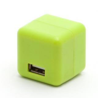 【10月下旬】2.1A1ポートUSB充電器 100-240V海外対応 グリーン