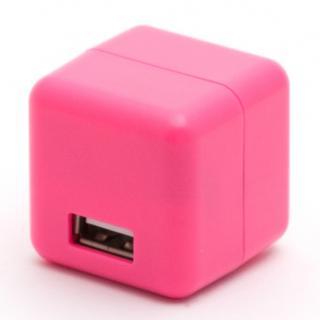 2.1A1ポートUSB充電器 100-240V海外対応 ピンク