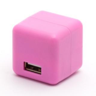 2.1A1ポートUSB充電器 100-240V海外対応 さくらピンク