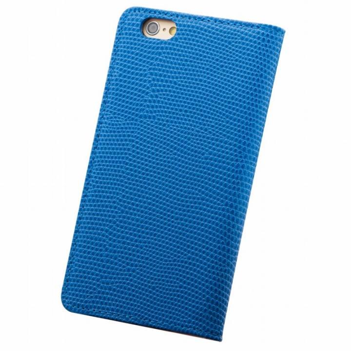 サフィール 手帳型本革ケース ブルー iPhone 6s Plus/6 Plus