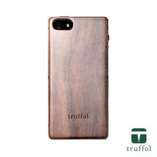 truffol ネイチャー ネイビー/ウォールナット iPhone SE/5s/5ケース