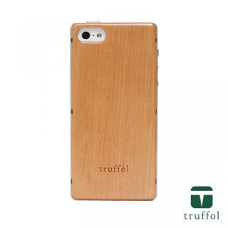 truffol ネイチャー シルバー/チェリーウッド iPhone SE/5s/5ケース