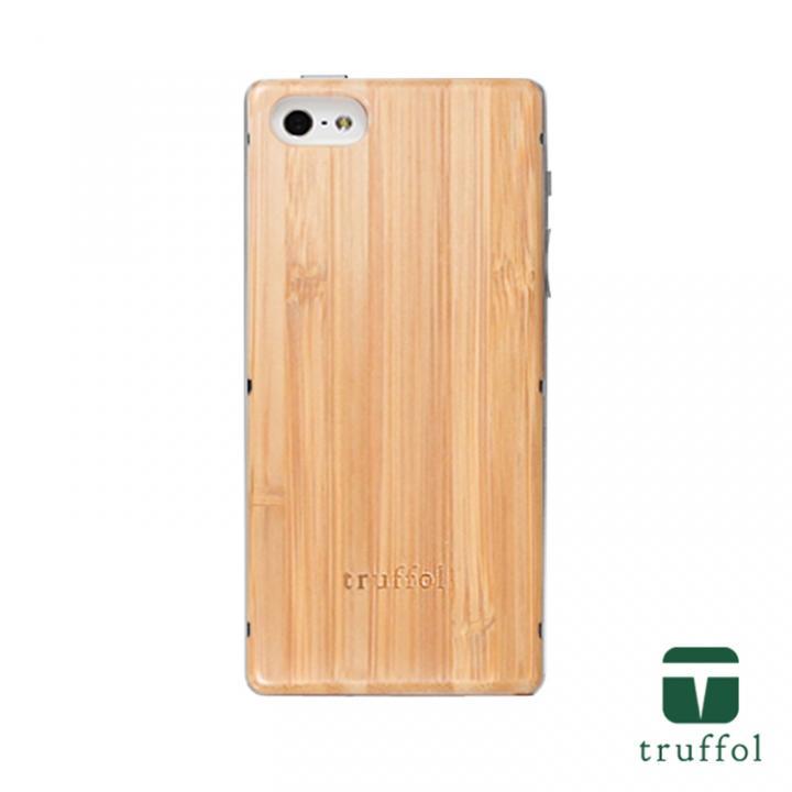 truffol ネイチャー シルバー/バンブー iPhone SE/5s/5ケース