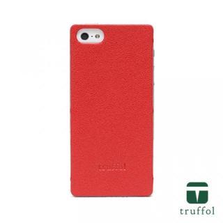 truffol クラシック シルバー/レッド iPhone SE/5s/5ケース