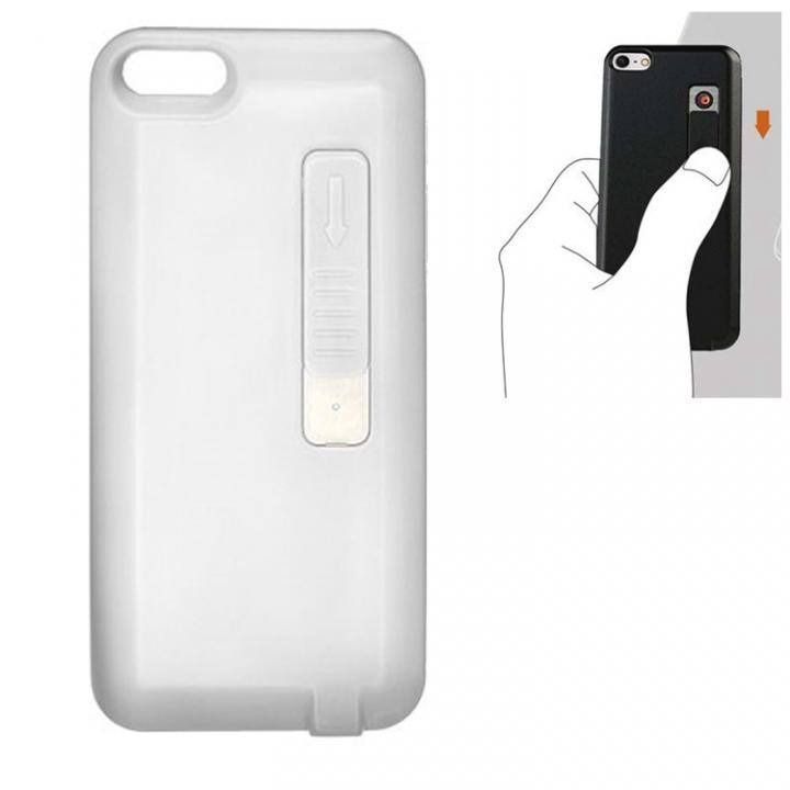 【iPhone SE/5s/5ケース】iPhone SE/5s/5 シガライター付ケース ホワイト_0