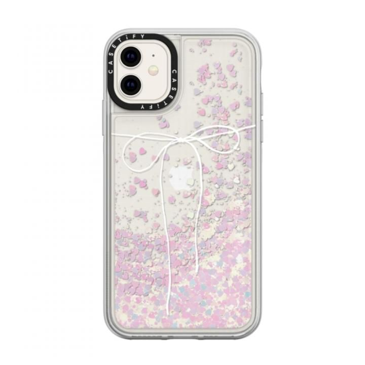 iPhone 11 ケース casetify TAKE A BOW II - BLANC glitter iPhone 11_0