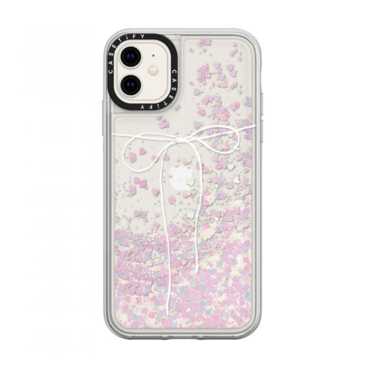 iPhone 11 ケース casetify TAKE A BOW II - BLANC glitter iPhone 11_0