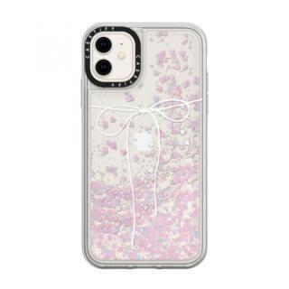 iPhone 11 ケース casetify TAKE A BOW II - BLANC glitter iPhone 11