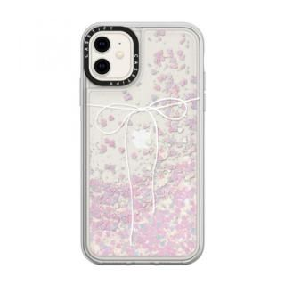 iPhone 11 ケース casetify TAKE A BOW II - BLANC glitter iPhone 11