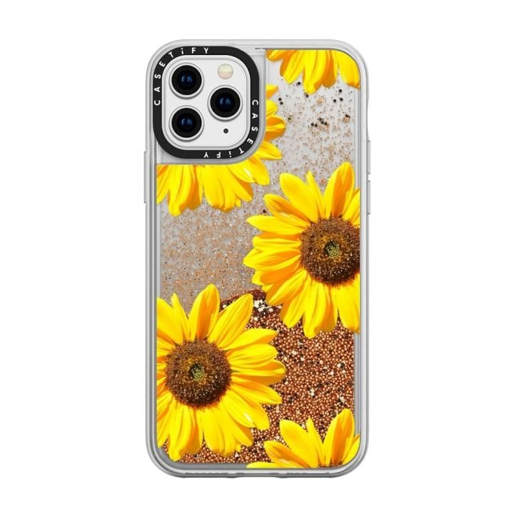 iPhone 11 Pro ケース casetify Sunflowers - Floral Pattern glitter iPhone 11 Pro【8月上旬】_0