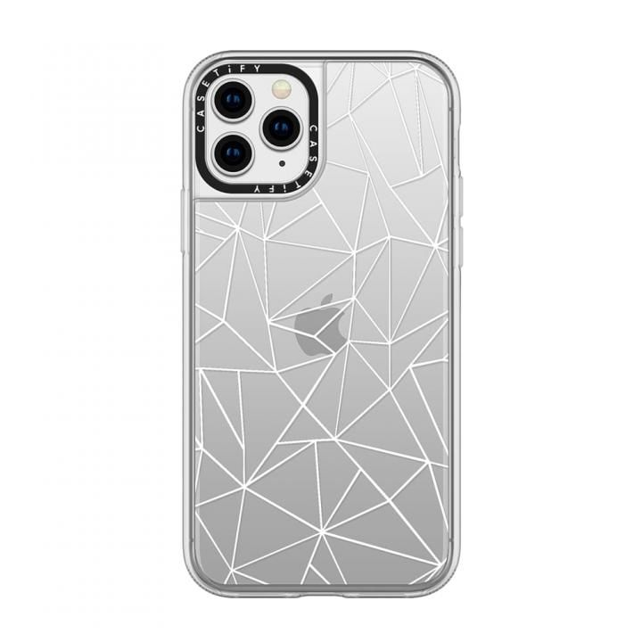 iPhone 11 Pro ケース casetify Abstraction Outline White Transparent grip iPhone 11 Pro【12月上旬】_0