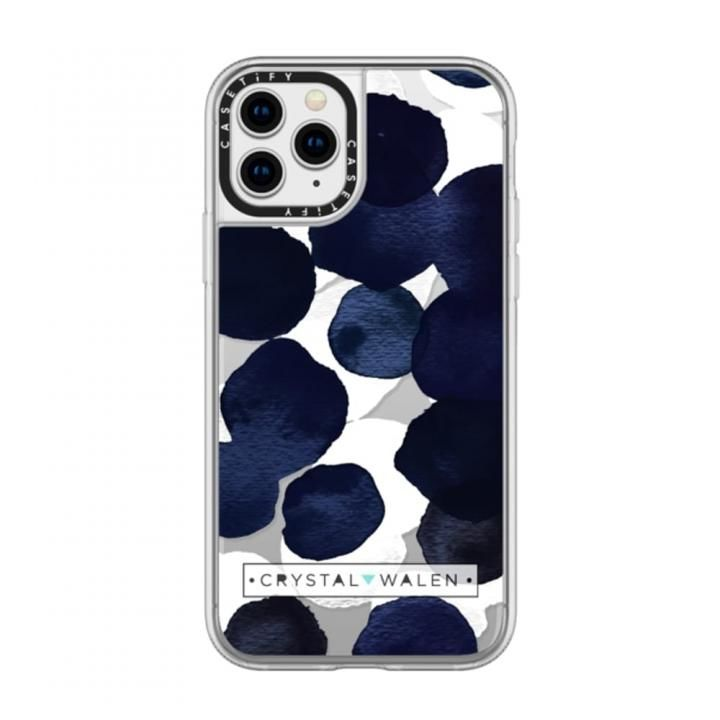 iPhone 11 Pro ケース casetify Indigo White Dots Clear grip iPhone 11 Pro_0