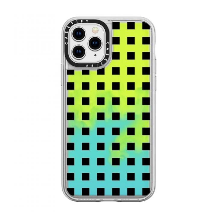 iPhone 11 Pro ケース casetify Modern trendy black white block pattern neon sand green iPhone 11 Pro_0