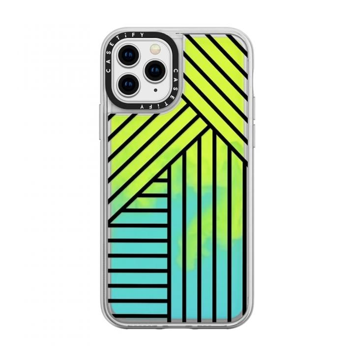 iPhone 11 Pro ケース casetify Stripes transparente neon sand green iPhone 11 Pro_0
