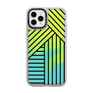 iPhone 11 Pro ケース casetify Stripes transparente neon sand green iPhone 11 Pro