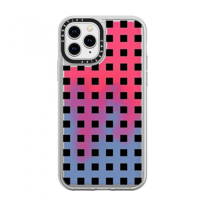 iPhone 11 Pro ケース casetify Modern trendy black white block pattern neon sand red iPhone 11 Pro_0