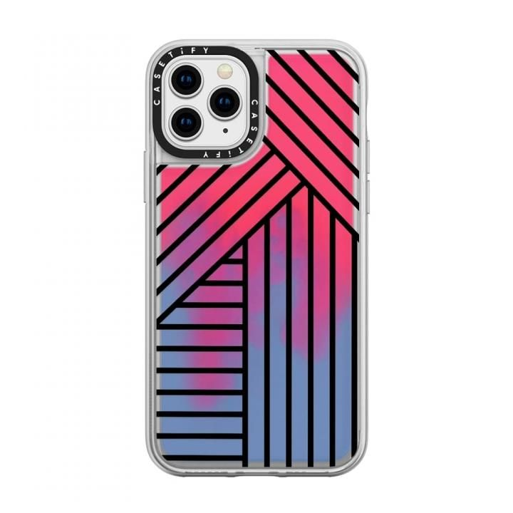 iPhone 11 Pro ケース casetify Stripes transparente neon sand red iPhone 11 Pro_0