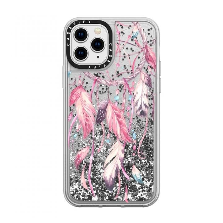 iPhone 11 Pro ケース casetify Watercolor Pink Dreamcatcher Feather Dream Catcher glitter iPhone 11 Pro_0