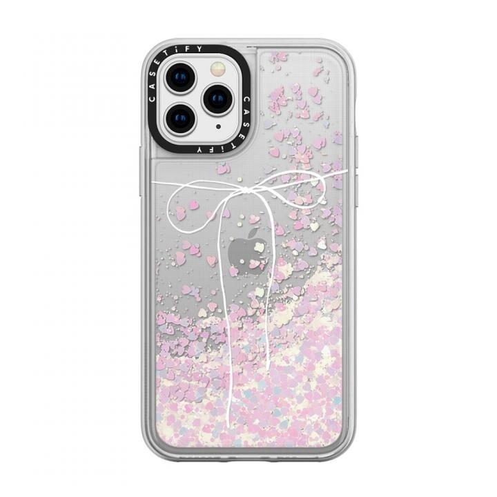 iPhone 11 Pro ケース casetify TAKE A BOW II - BLANC glitter iPhone 11 Pro_0
