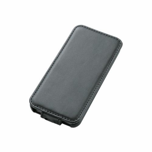 iPhone 5c用 ソフトレザーカバー(縦開き) ブラック_0