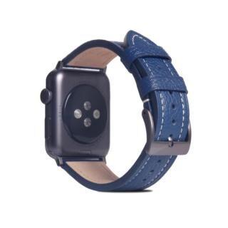 FULL GRAIN LEATHER BAND for Apple Watch 45/44/42mm ネイビーブルー【10月下旬】