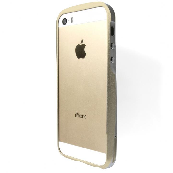iPhone SE/5s/5 ケース GRAMAS Metal Bumper iPhone SE/5s/5 ゴールド_0