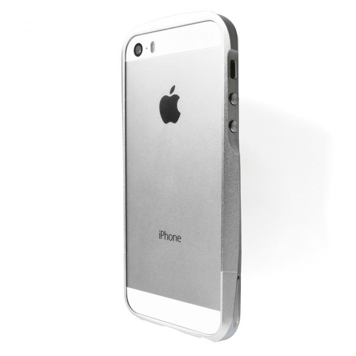 【iPhone SE/5s/5ケース】GRAMAS Metal Bumper iPhone SE/5s/5 シルバー_0