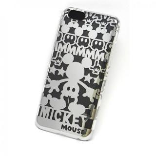 【10月中旬】カスタムケース ディズニー シルバー ミッキー シルエット iPhone 6ケース